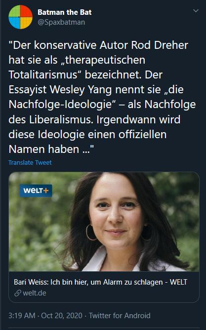 'Die Nachfolge-Ideologie': sounds great in German