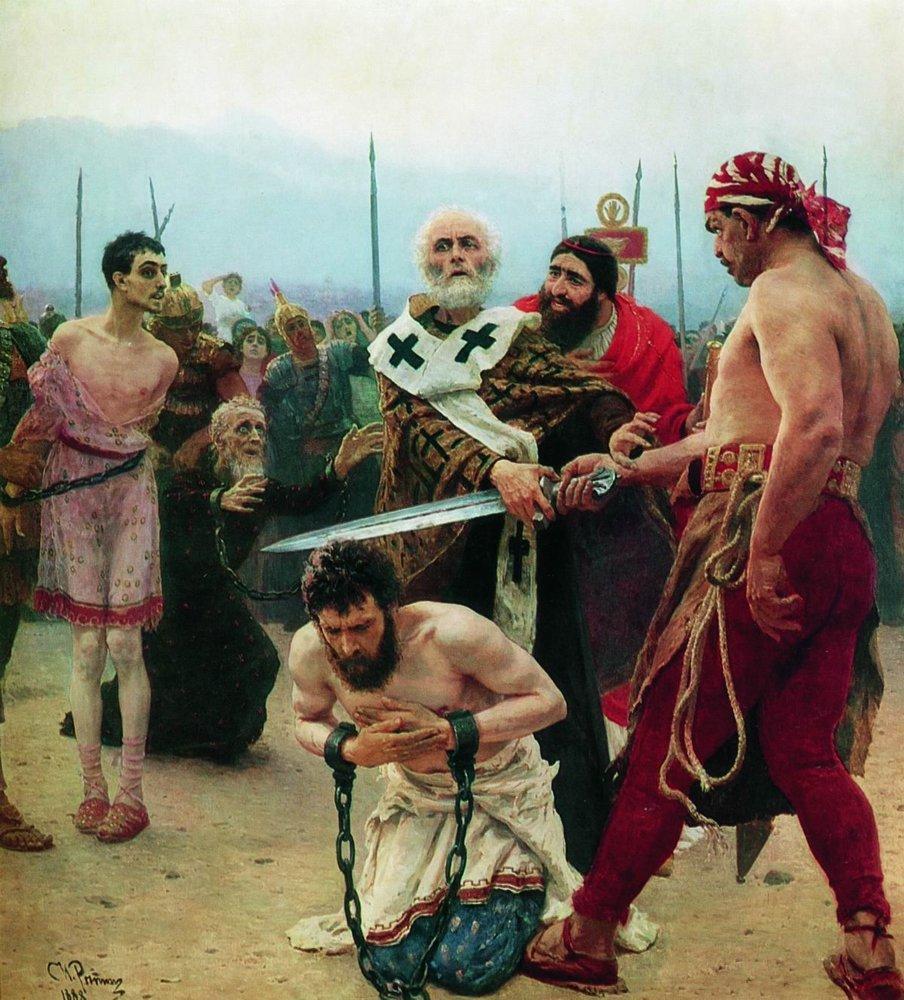 St. Nicholas Saves Three Innocents from Death, 1888 #ilyarepin #realism