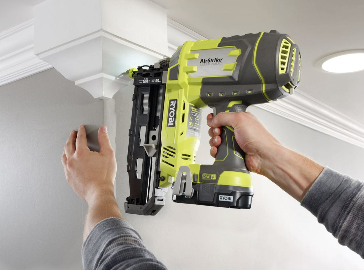 Home remodeling made easier 😍 Add some crown molding with the 18V ONE+ AirStrike 16GA Cordless Straight Finish Nailer!
