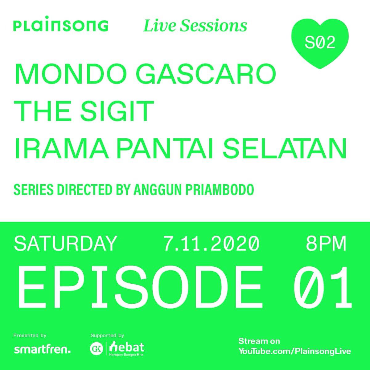 Kami main di episode 01 Plainsong Live Sessions season 2. Tayang Sabtu besok. Follow @plainsonglive dulu. https://t.co/rbZdwHb0z0
