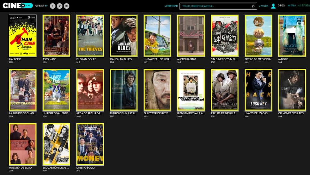 """Diego Batlle 💚 on Twitter: """"Ya están disponibles de forma gratuita las 20 películas del @hancineba (Festival de CINE COREANO) en la plataforma de streaming CINE AR PLAY. Hay tiempo para verlas"""