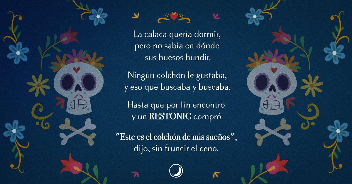 Hoy es un día para celebrar a los que siguen soñando.  #RESTONIC #Dormir #DíaDeMuertos https://t.co/lr2r32hjbJ