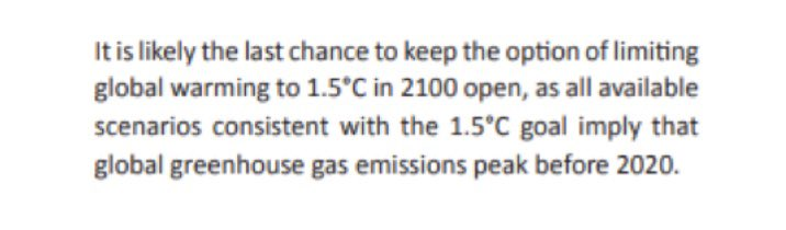 1/ A 2050 decarbonisation target is far too late for  on the basis of equity.According to UNEP's 2016 emissions gap report, all scenarios remaining below +1.5°C require global emissions to peak before 2020. They haven't peaked, so we need to act *faster* after 2020.