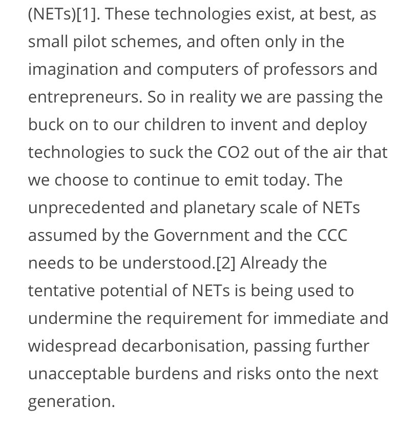 "4/Bill's 2050 goal is to pursue a ""climate neutral economy"", where emissions are balanced by ""removals"" Inclusion of tech solutions here implies reliance on CO2 removal tech that has ""multiple feasibility & sustainability constraints"" per the IPCC. & See  @KevinClimate (pic2)!"