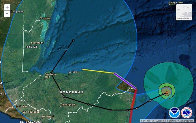 ETA ya es huracán categoría 4 y avanza hacia Centroamérica