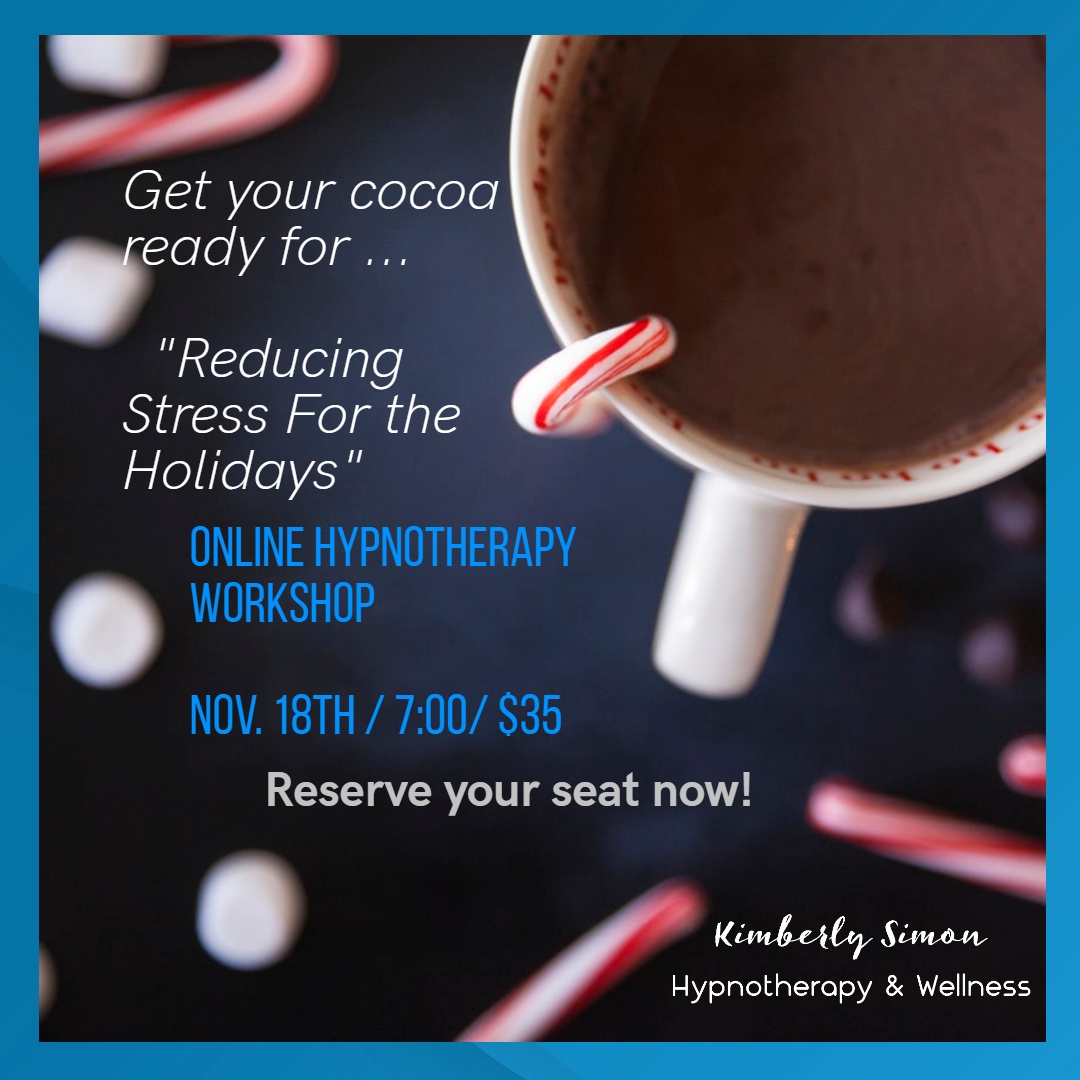 Reserve seats & for a couch pajama party with friends & family. Parting gifts: warm gooey goodness, smiles, relaxation, renewal & coping tools.   #HolidayStress #CouchParty #GetYourCocoaOn #BreatheEasyThis Season #HolidayCopingTools
