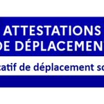 Image for the Tweet beginning: Les attestations de déplacement scolaire