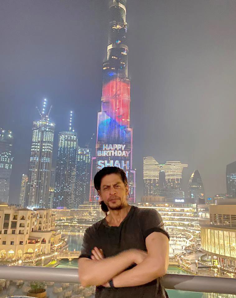 It's nice to see myself on the biggest and tallest screen in the world. My friend @mohamed_alabbar has me on the biggest screen even before my next film. Thanks & love u all @BurjKhalifa & @EmaarDubai. Being my own guest in Dubai... my kids mighty impressed and me is loving it!