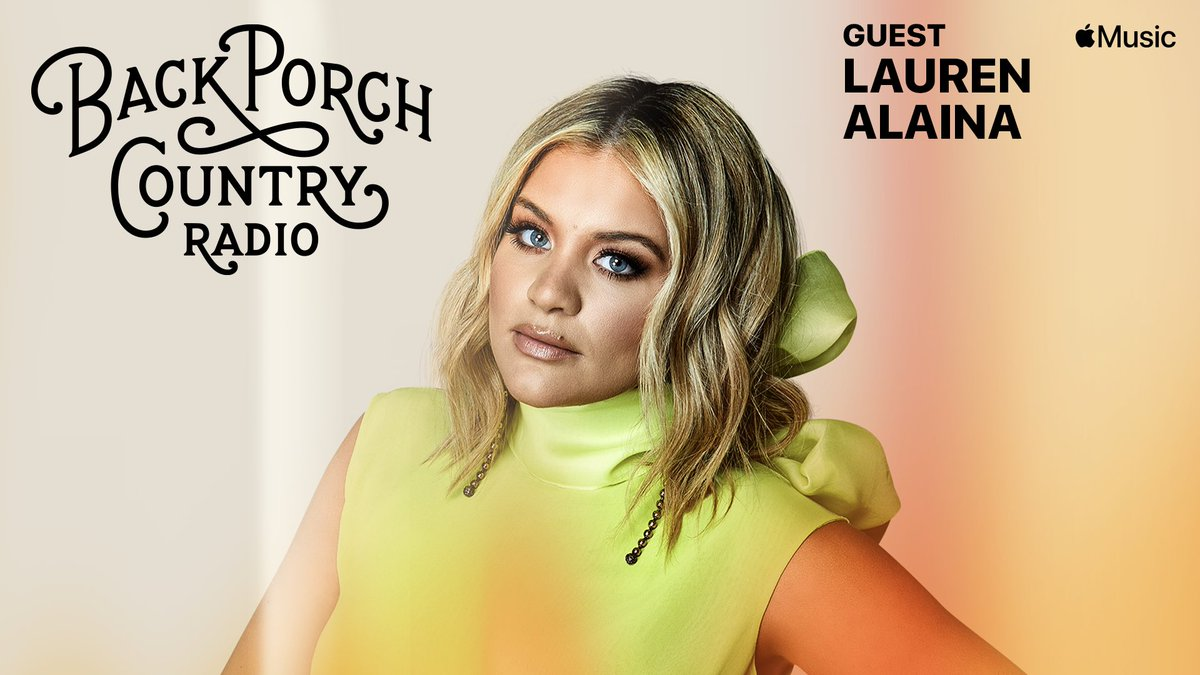 Excited, @Lauren_Alaina is on the porch w/ me this week. Hang w/ us on Back Porch Country radio @applemusic tonight 6p/ 7ET 4PT #backporchcountry #CountryMusic #laurenalaina