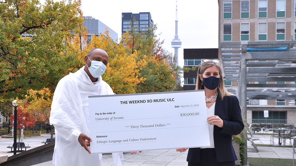 With support from @TheWeeknd, @UofTArtSci's Ethiopic program soars past $500,000 endowment goal #UofT 💙