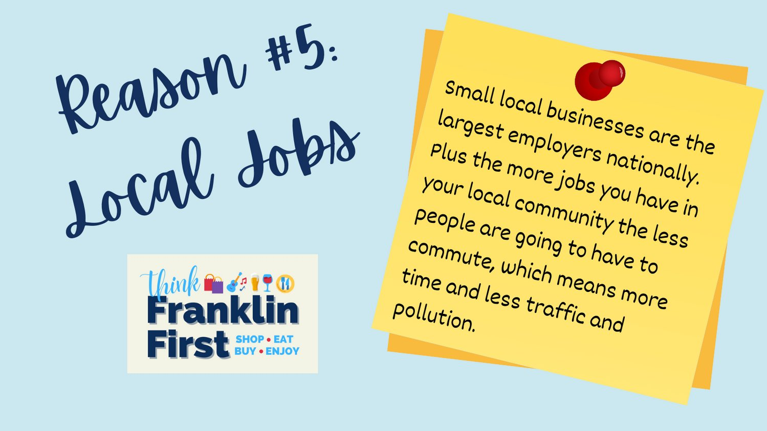 Reason#5 to #ThinkFranklinFirst