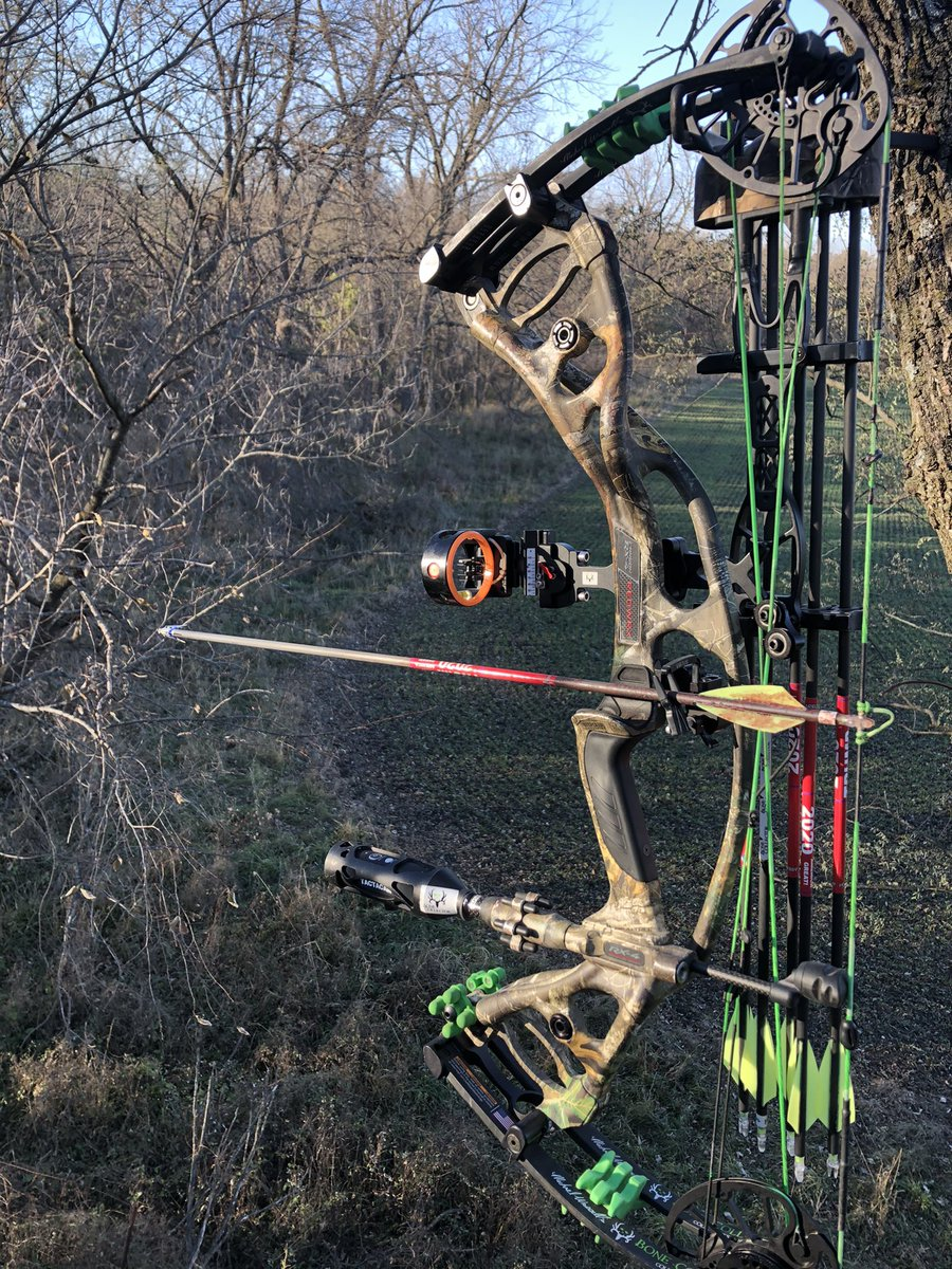 Welcome to the promise land. 20 ft high in IA. Been a 5yr wait for this NR Tag.  Game time! 👊 #bonecollector