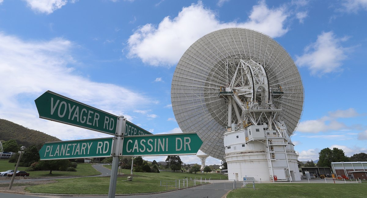 """For the past 8-months, Deep Space Station 43 has been undergoing upgrades. @NASAVoyager-2 has been waiting for us to be able to send it commands once again. On Friday 30th October, we sent those commands & after a 34hour 48 min round trip time, a """"hello"""" came back! #DSS43 @CSIRO"""