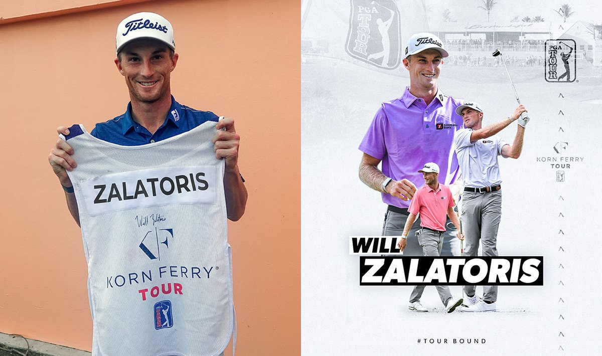 .@WillZalatoris is #TOURBound!   For a chance to win this signed #KornFerryTour caddie bib: • Retweet this post AND follow @KornFerryTour https://t.co/59SaoyjlTl