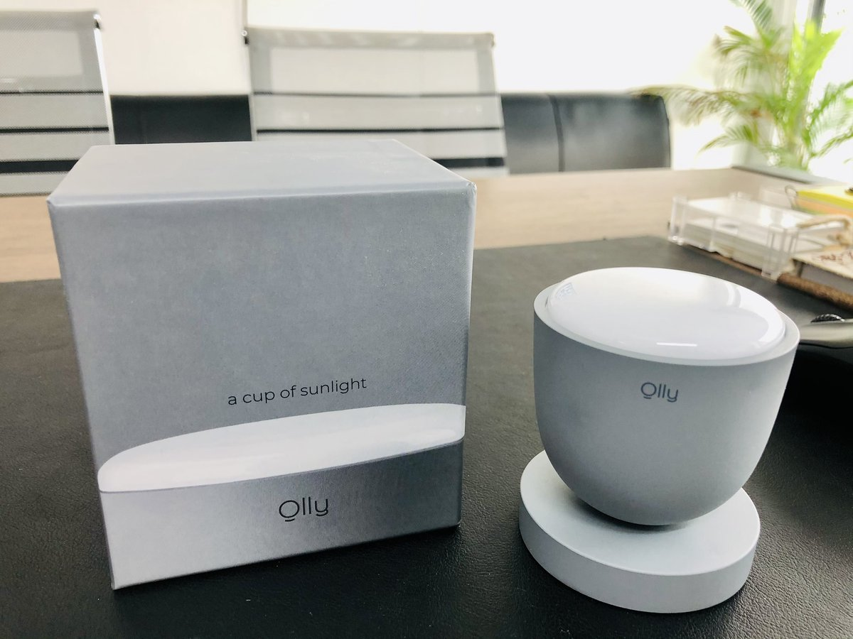 """test Twitter Media - Meet @olly_luple at my desk! I backed this @kickstarter  project few months back, just got in delivered all way back from Korea. They introduce Olly as - """"A cup of sunlight""""! It emits light at 480nm wavelength, which controls the secretion of melatonin inside the human body .. https://t.co/EWid0cq7Rn"""