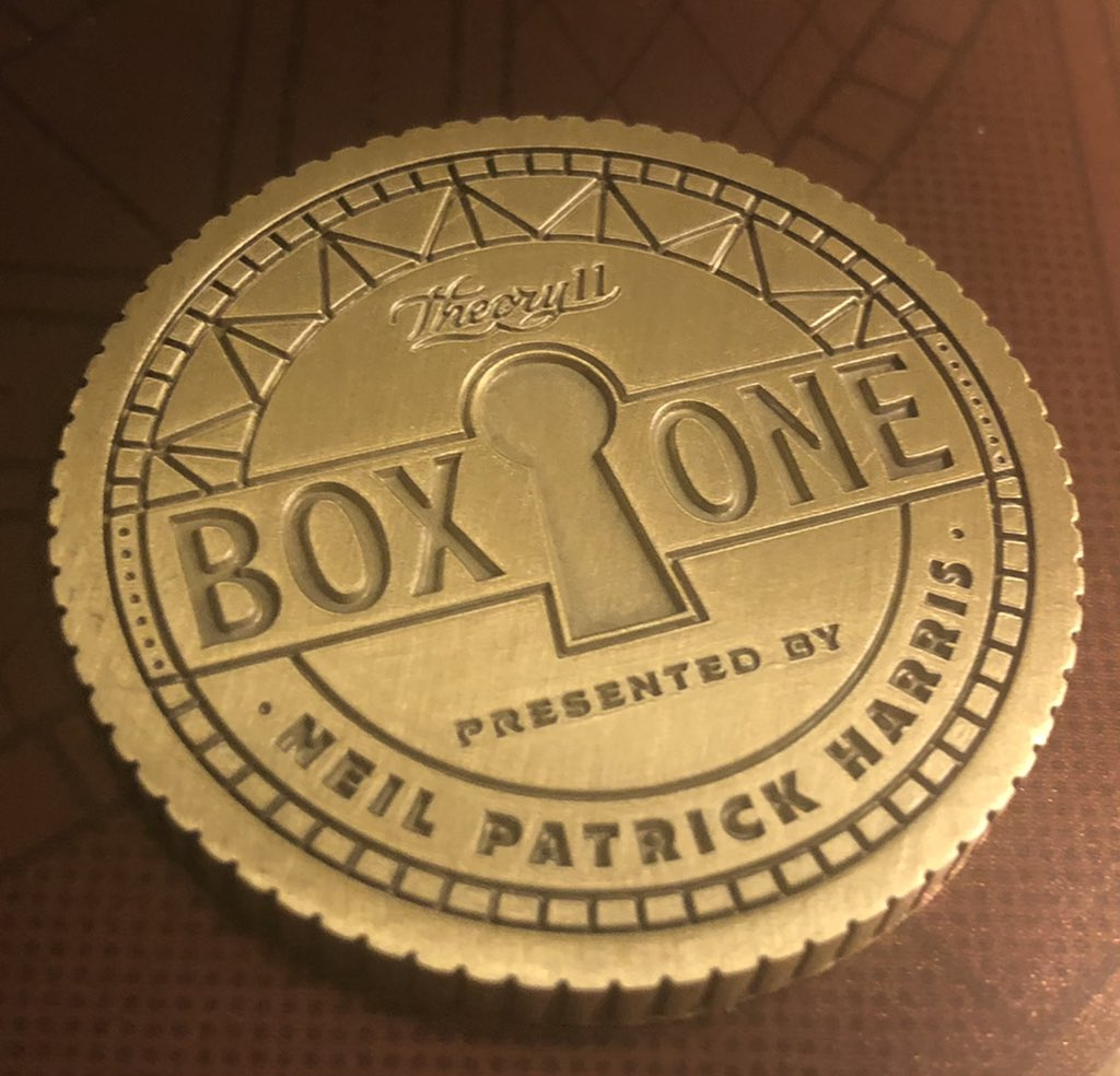 Solved it! BOOM. @ActuallyNPH @theory11 #theory11 #boxone
