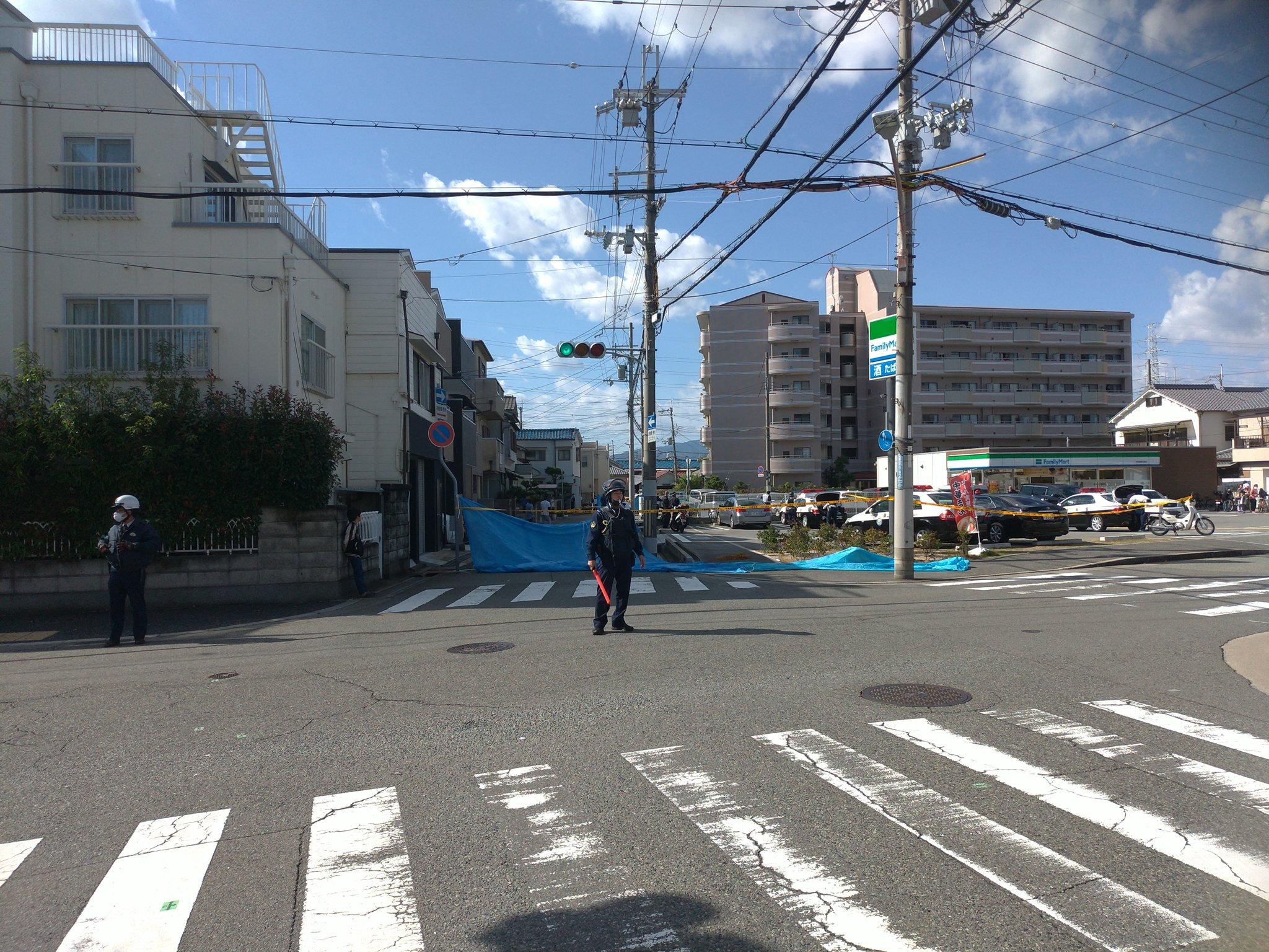 尼崎市稲葉元町の発砲事件の現場の画像