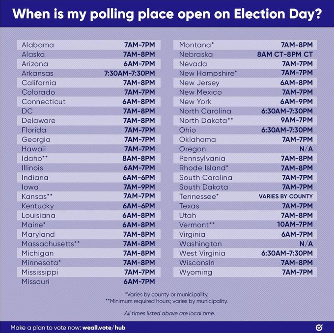 1 pic. Please go out and VOTE! Every vote counts ! Some states offer same day registration! https://t