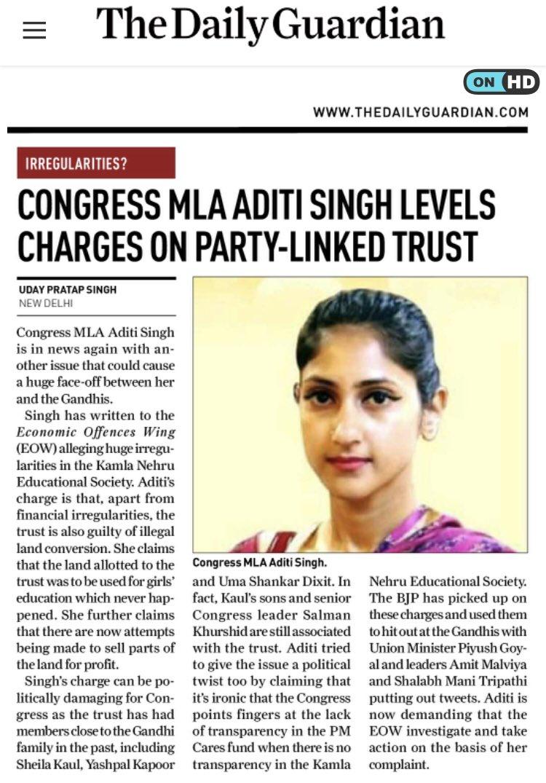 #UttarPradesh - My article in #TheDailyGuardian newspaper today !! @AditiSinghRBL @DailyGuardian1 #AditiSingh #Congress  Link -