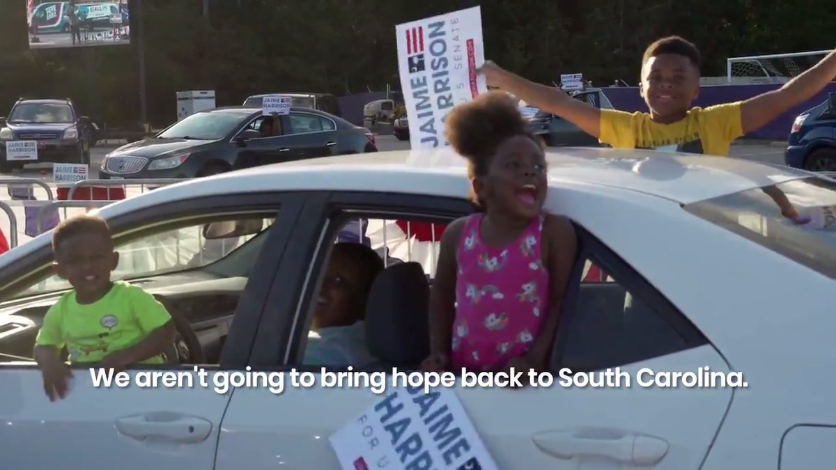 We aren't going to bring hope back to South Carolina. We already did.
