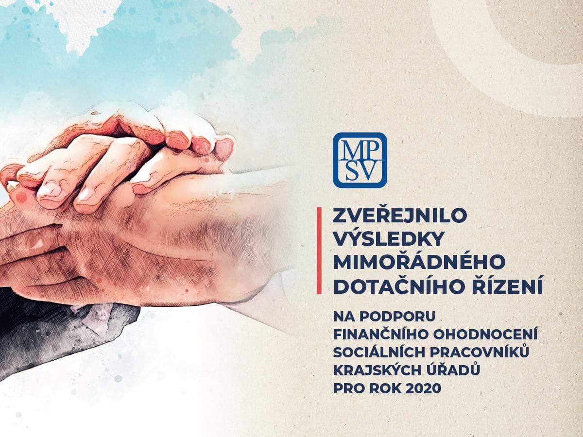 MPSV zveřejnilo výsledky mimořádného dotačního řízení na podporu finančního ohodnocení sociálních pracovníků krajských úřadů pro rok 2020.  Více informací na: 📍https://t.co/BqgBbEfloo https://t.co/97muYGmNBl