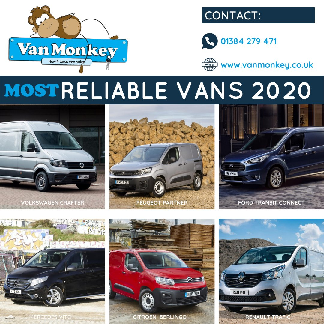 Van Monkey On Twitter Most Reliable Vans 2020 Volkswagen Crafter Peugeot Partner Ford Transit Connect Mercedes Vito Citroen Berlingo Renault Trafic What Is The