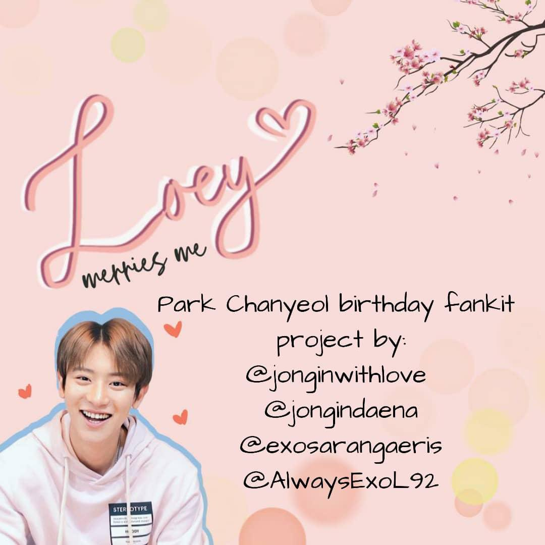 Loeymerriesme On Twitter Chanyeol S Birthday Is Cominggg In Conjuction With Chanyeol Upcoming Birthday Today We Present To You Another Amazing Project Called Loeymerriesme Birthday Fankit Click Here For