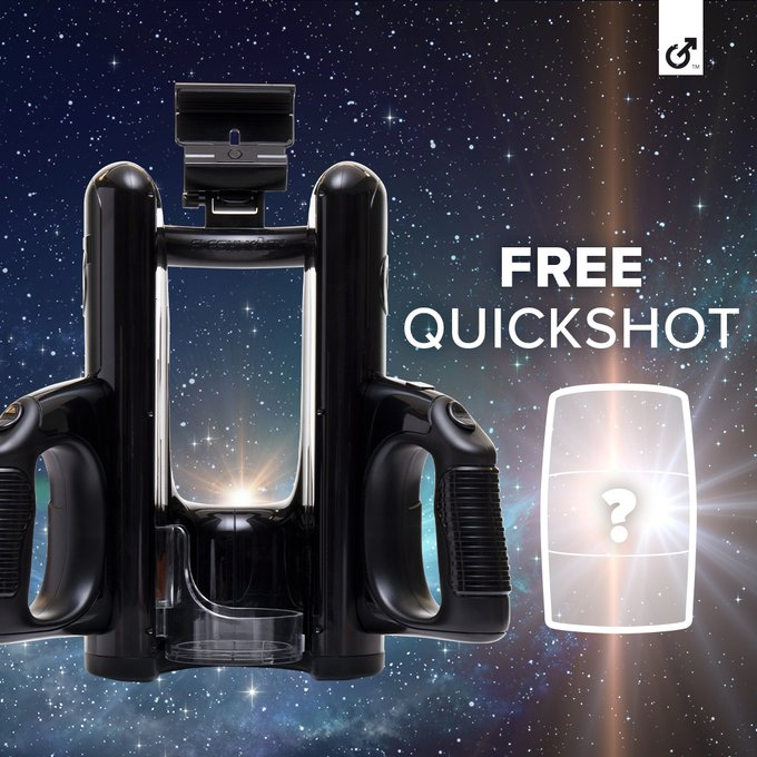 Get off on us! Receive a FREE mystery Quickshot with regular-priced Quickshot Launch purchase. Only at