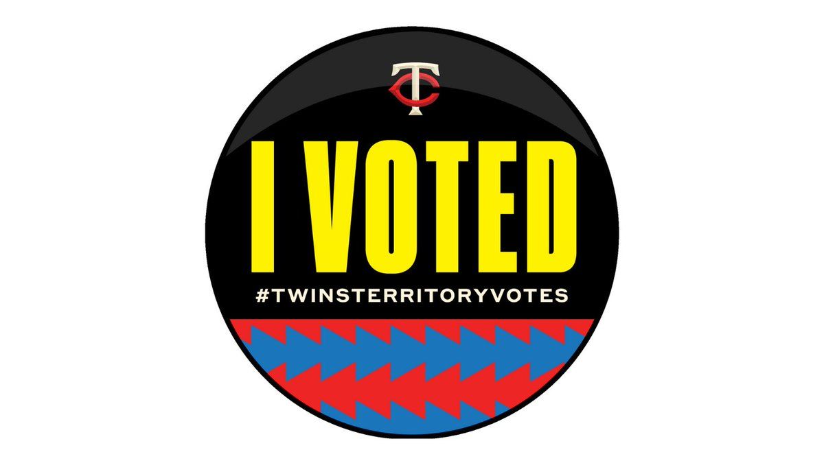GO VOTE! Retweet this post and follow this account for your chance to win a @Twins fan pack and an autographed baseball!   🚨FREE PRIZES 🚨  Don't forget to download your I voted sticker.    2020 #TwinsTerritoryVotes