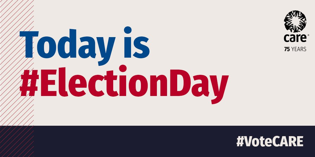 #ElectionDay is TODAY! Cast your vote locally to lift the voices of women and girls globally. #VoteCARE
