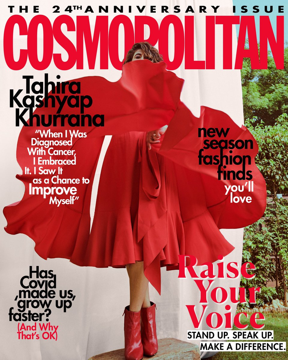 Cosmo's 24th Anniversary issue is dedicated to raising your voice about matters that matter. Our digital coverstar, writer and filmmaker @tahira_k has mastered the art of using her words to inspire others.   Download your free copy now:
