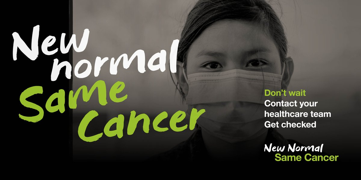 This year it was expected 225,800 Canadians would be diagnosed with cancer, but cancelled appointments mean many will now go undiagnosed. Cancer isn't waiting for the pandemic to be over, why should you? Talk to your healthcare team today. #NewNormalSameCancer