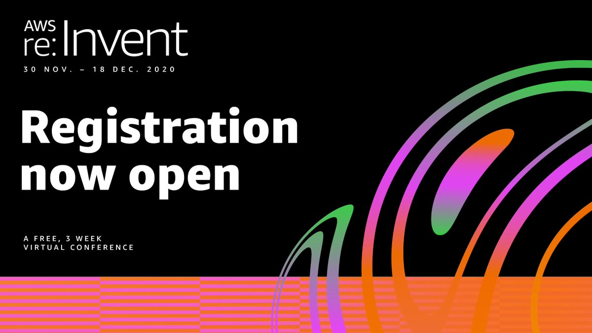 AWS #reInvent is back. From Nov 30 to Dec 18, join the world's premier cloud learning event—all virtual, all free. ☁️ Register now! https://t.co/uH45lcXTRB https://t.co/JvvRMIpQ0c