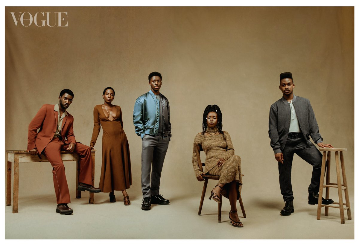 Cast members from #SteveMcqueen's highly anticipated #SmallAxe series Photographed by me for the November issue of @BritishVogue. With Fashion by #DonnaWallace   #MalachiKirby #AmarahJaeStAubyn