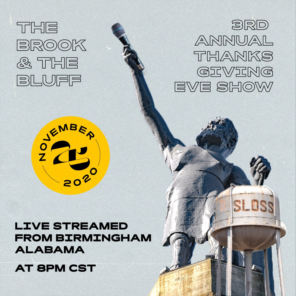 Our buds The Brook & The Bluff are doing a live stream on the eve of Thanksgiving! Check it out, tickets are on sale now! go.seated.com/events/40baf31…