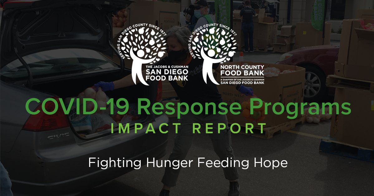 #ICYMI The Food Bank has released our latest COVID-19 Response Programs Impact Report with updated stats! See how YOUR support is directly impacting the lives of hundreds of thousands of our neighbors facing food insecurity. Click here: sandiegofoodbank.org/impact/ #COVID19Response