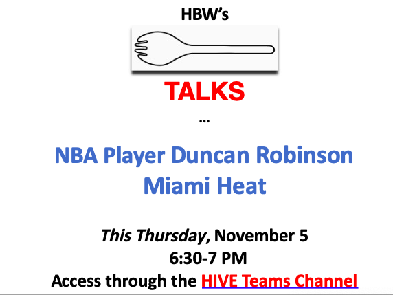🏀 MBA Basketball player (& Williams student & Michigan grad) talks about NBA basketball AND LIFE at 6:30 Thursday 11/5 SPORK TALK from HIVE <a target='_blank' href='http://twitter.com/HBWProgram'>@HBWProgram</a> <a target='_blank' href='http://twitter.com/DR55FanClub'>@DR55FanClub</a>  --Cuz REINA REIGNS & HIVE ROCKS! <a target='_blank' href='http://search.twitter.com/search?q=loveH'><a target='_blank' href='https://twitter.com/hashtag/loveH?src=hash'>#loveH</a></a> <a target='_blank' href='https://t.co/UtpwyAfas2'>https://t.co/UtpwyAfas2</a>
