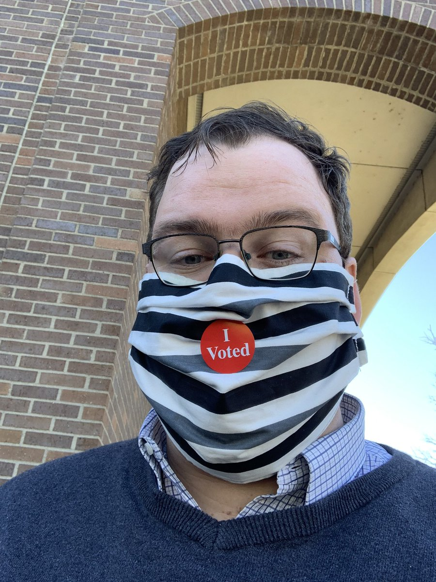 I just voted!  If you haven't voted, will you #VoteWithUs. I voted for Joe Biden, Tina Smith, & progressive majorities in the House & Senate. Together, we will make a more caring, abundant, and vital MN that sees all people as whole and essential members of our community.