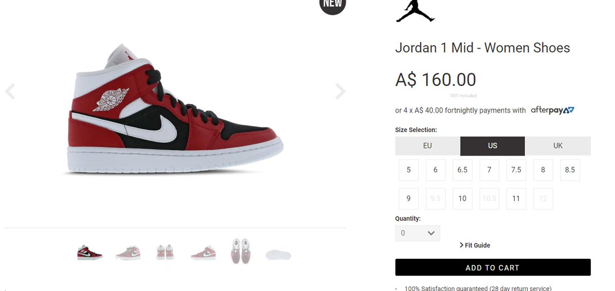 Wmns Air Jordan 1 Mid 'Gym Red/Black