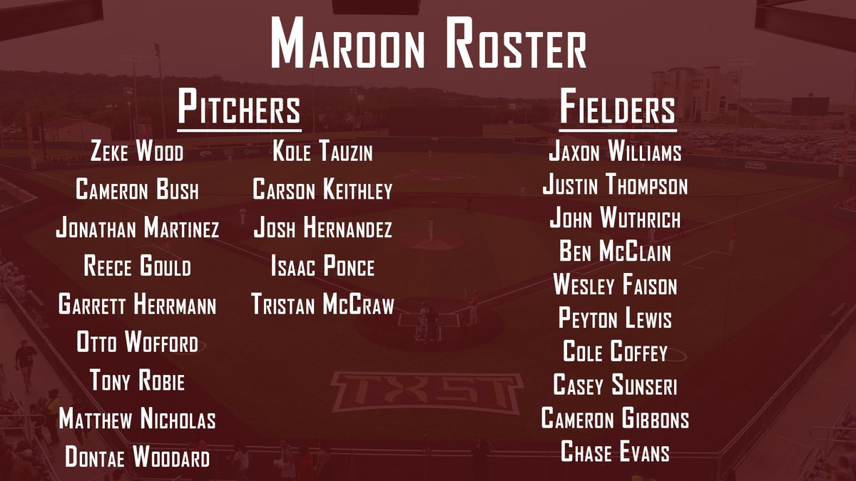 Maroon & Gold World Series begins on Thursday at Bobcat Ballpark. The 5-game series will conclude next Wednesday. 🔗: bit.ly/3ephRMQ #EatEmUp #ComebackStrong