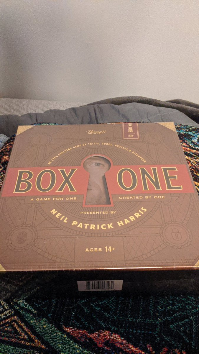 Been following @chrisramsay52 for a little over a year now on YouTube and I've been wanting to solve puzzles like his for a while. For some reason his #BoxOne video called out to me to give it a try. I'm excited to see what's in store @ActuallyNPH