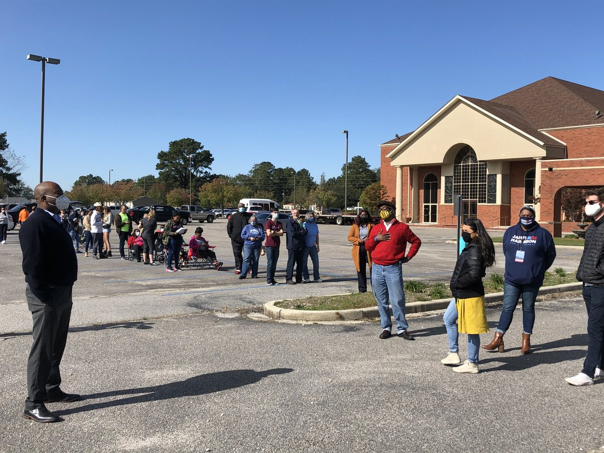 Got to talk to folks in line around the Pee Dee today. Stay in line, y'all. We need every vote we can get.