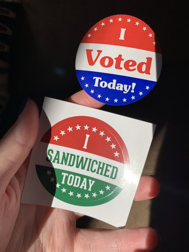 Did two VERY important things today. #VOTE #2020Elections #NationalSandwichDay