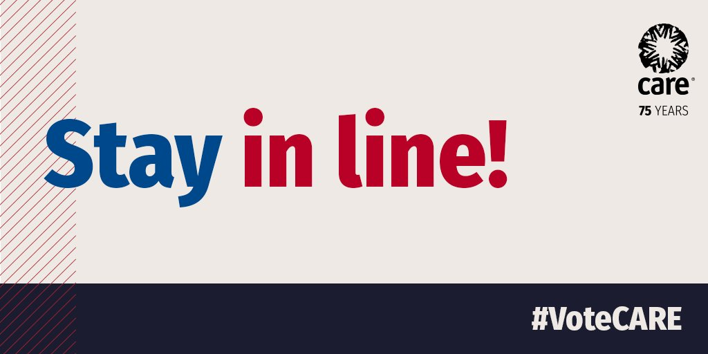 Stay in line! As long as you're in line before the polls close you can still #Vote. #ElectionDay