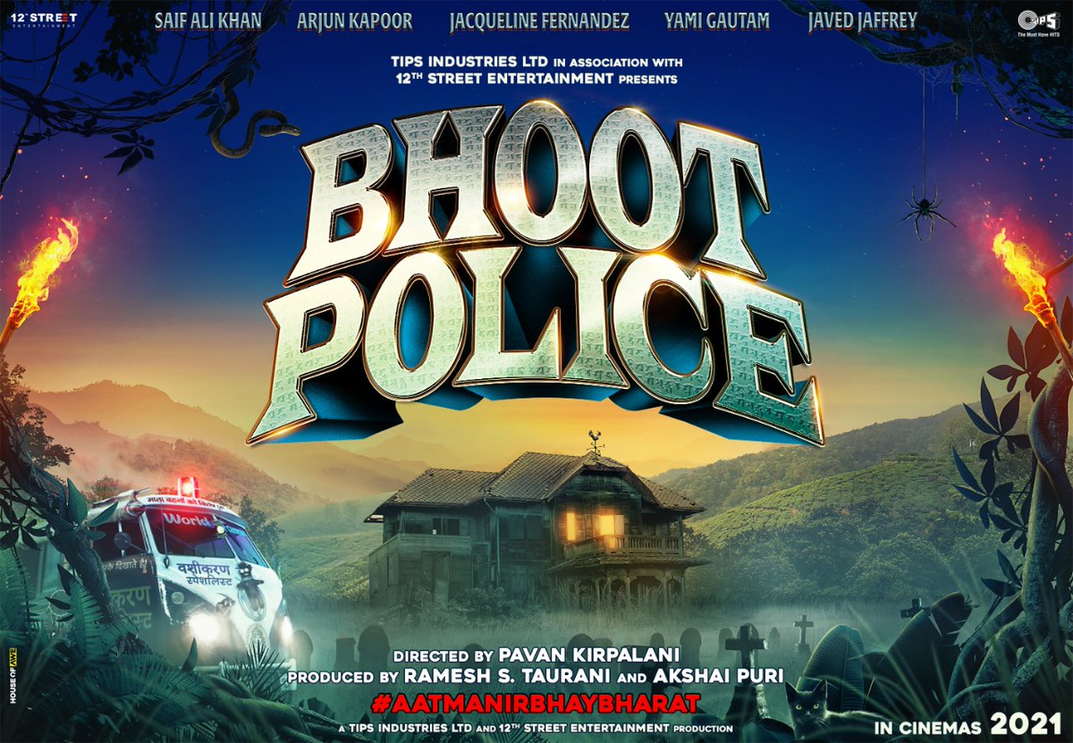 Camera Rolling and Action - #BhootPolice shoot begins in Dalhousie. The lead cast of the movie includes #SaifAliKhan, @arjunk26, @Asli_Jacqueline, @yamigautam, @jaavedjaaferi and is helmed by #PavanKirpalani. @RameshTaurani @PuriAkshai