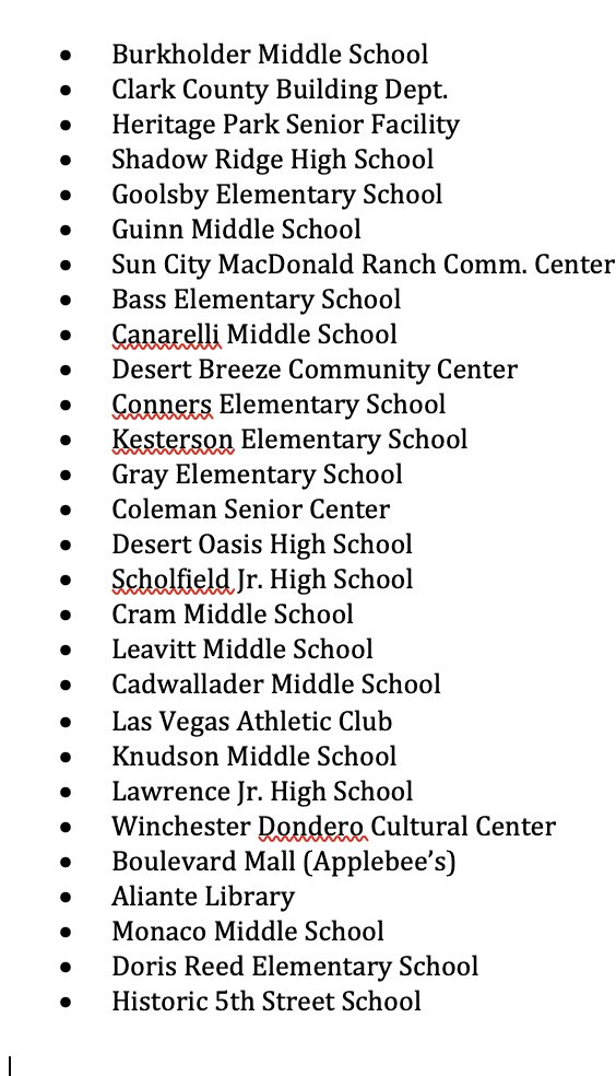🚨BREAKING: Nevada Judge Extends Poll Closing Deadline by 1 hour--to 8pm for the following polling locations  PLEASE SHARE IN NEVADA