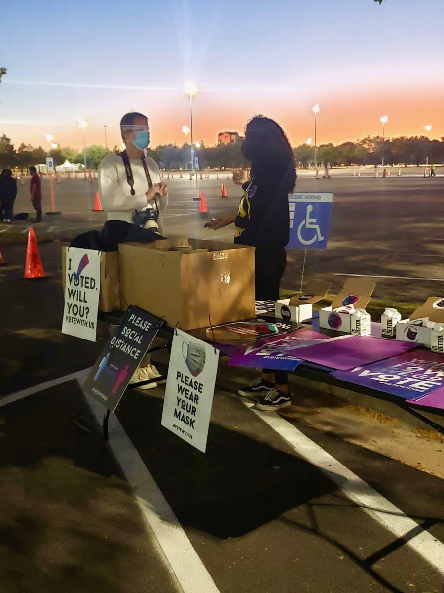 Bringing PPE, Voter info and support for all the voters at NRG center in Houston. #VoteWithUs #ElectionDay #Election2020