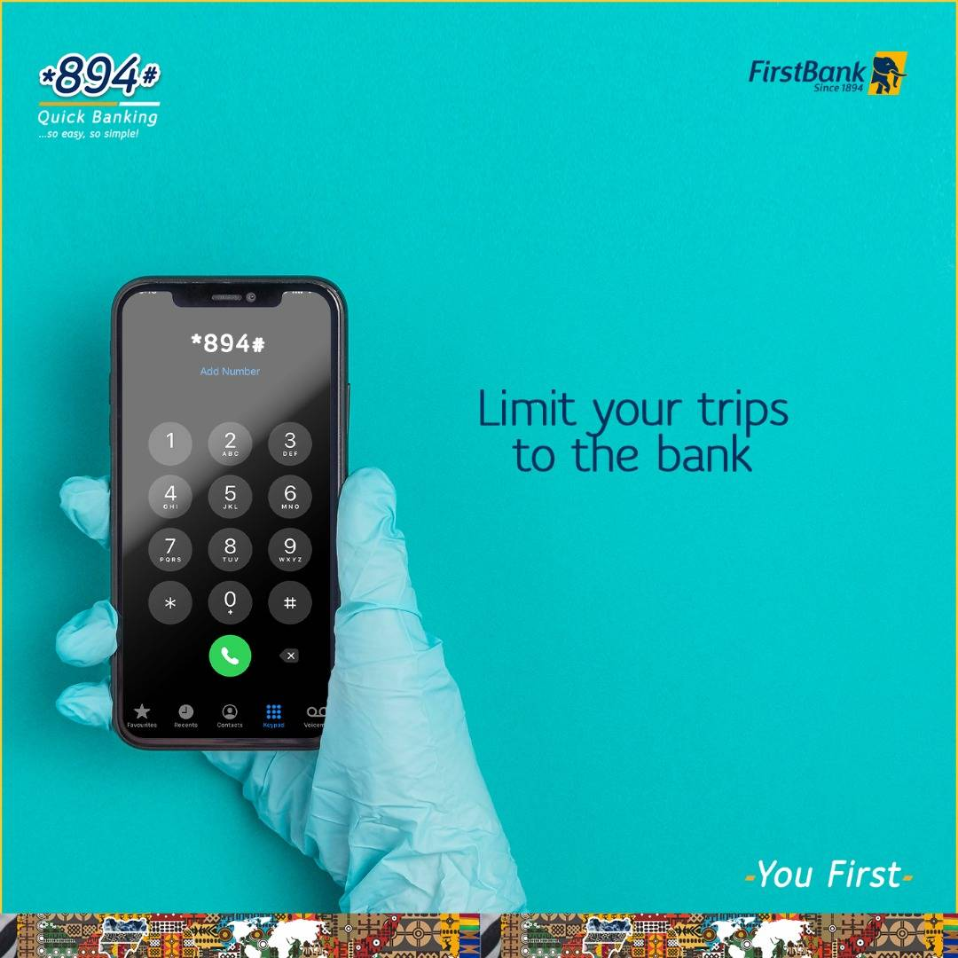 Bank from the comfort of your home using our digital channels. FirstMobile is your one-stop app for all banking transactions, and *894# is that magic code you need to get things sorted in a jiffy!  #BankFromHome #EasyBanking #EnablingYou #YouFirst