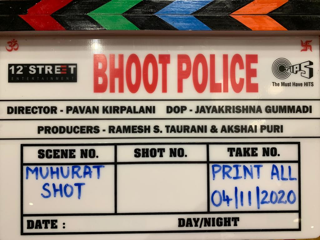 Camera Rolling and Action - Bhoot Police shoot begins!   #SaifAliKhan @arjunk26 @Asli_Jacqueline @yamigautam @jaavedjaaferi @RameshTaurani @puriakshai #PavanKirpalani #JayaTaurani @tipsofficial #12thStreetEntertainment #BhootPolice
