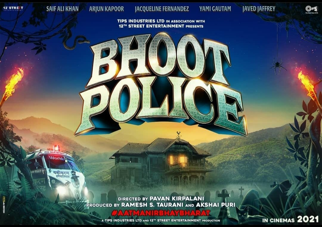 Shooting of horror - comedy #BhootPolice - starring #SaifAliKhan, #ArjunKapoor, #jacquelinefernandez , #yamigautam and #JaavedJaaferi - commences today [4 Nov 2020) in #Dalhousie ... The OFFICIAL LOGO is also unveiled.  #BhootPolice is directed by #PavanKirpalani   #Amoviesbuzz